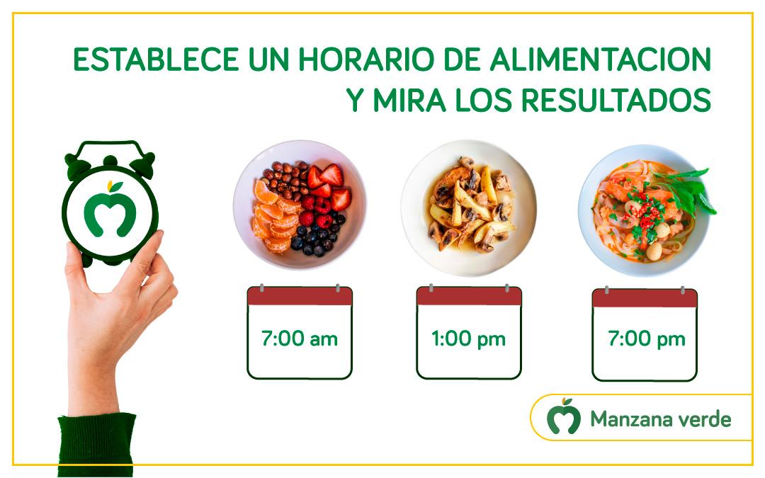 Beneficios de idear un horario para alimentarse de forma saludable