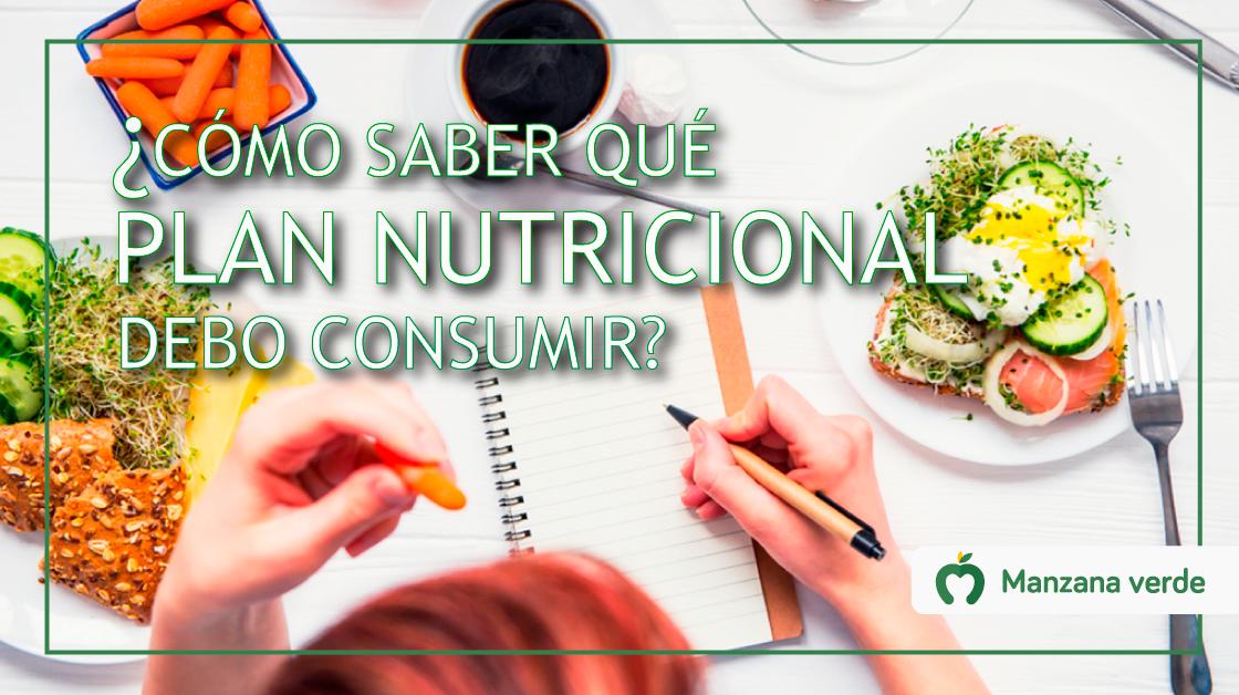 ¿Cómo saber qué plan de alimentacion nutricional debo consumir para mantenerme fuerte y sano?