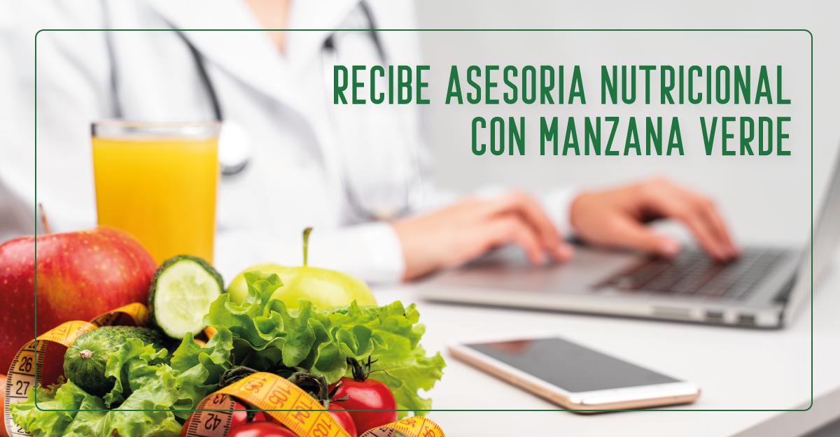 Asesoría nutricional gratis con Manzana Verde para lograr un plan de alimentación saludable